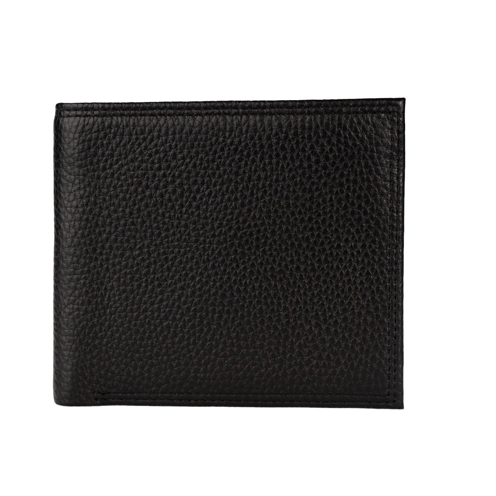 Mon Purse Pebbled Mens Bifold Wallet in Black