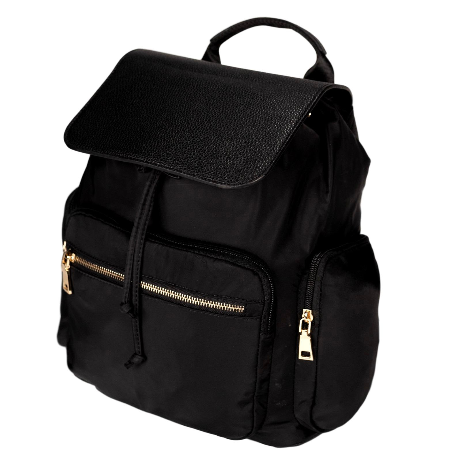 Mon Purse Nylon Hunter Rucksack in Black