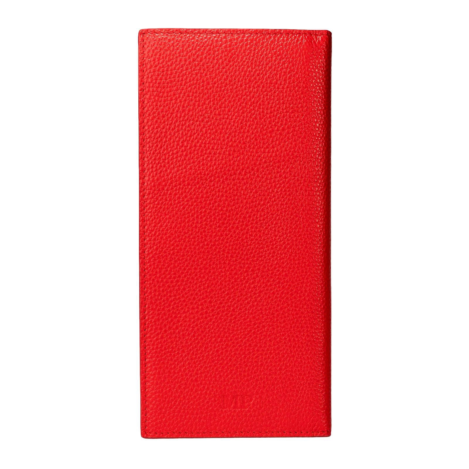 Mon Purse Pebbled Travel Wallet in Red