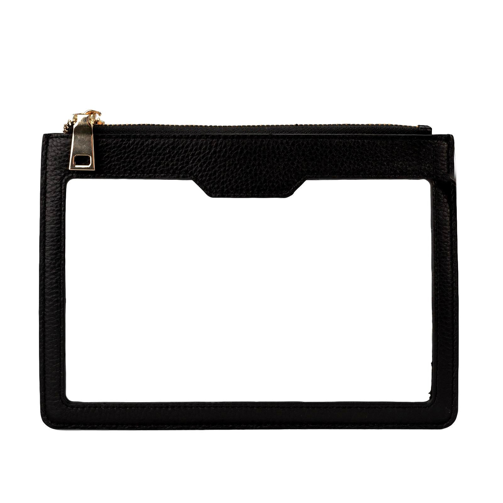 Mon Purse Clear Classic Pouch in Black