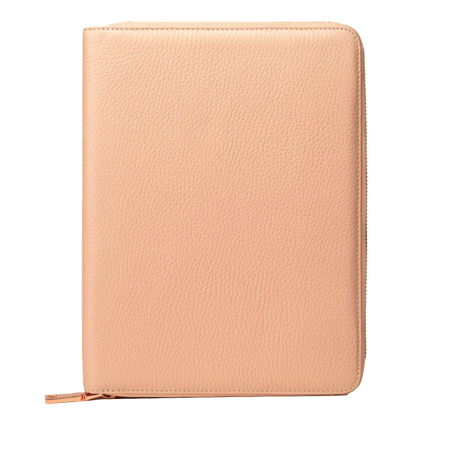Mon Purse Pebbled iPad Air Zip Case in Blush