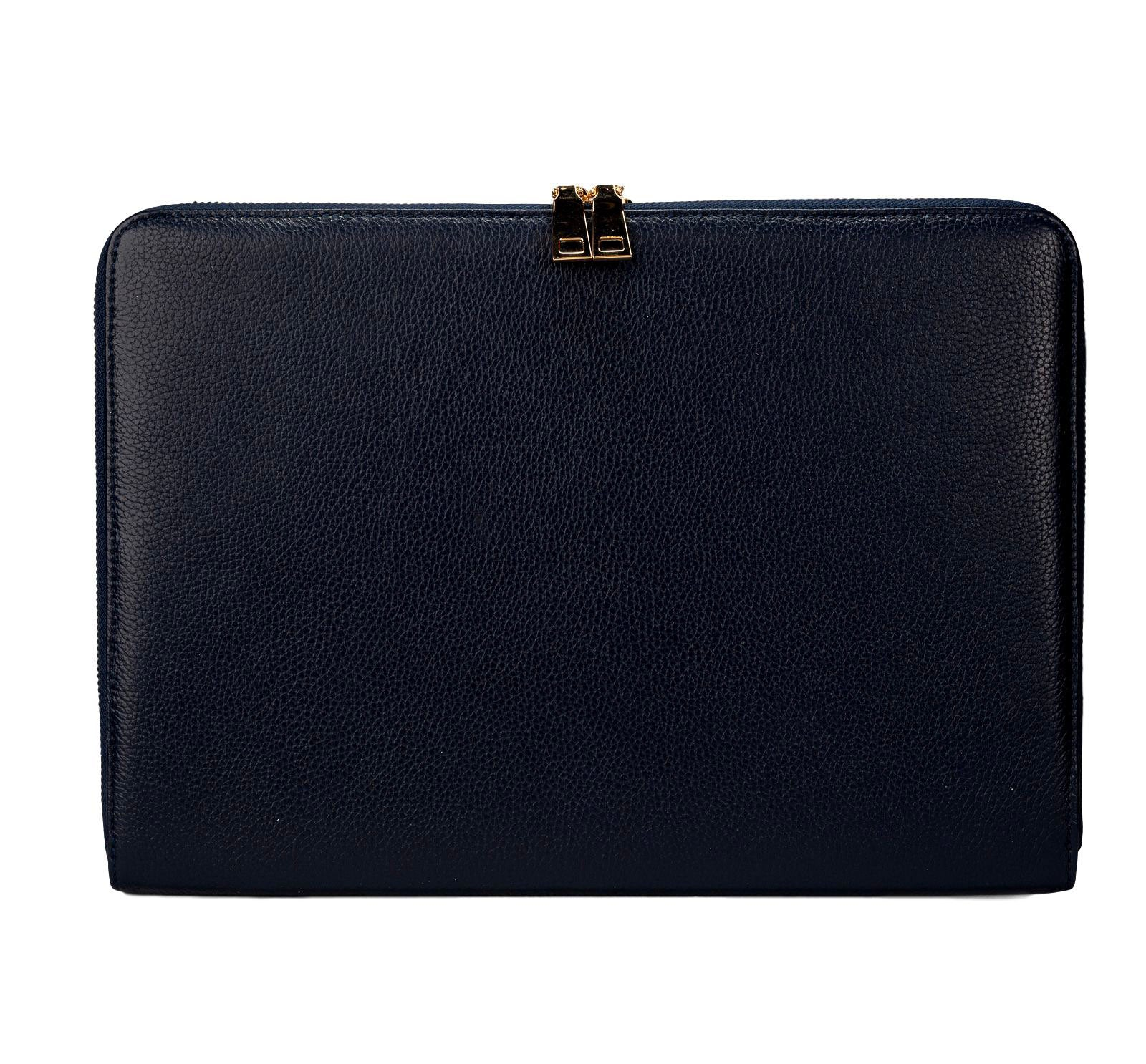 "Mon Purse Pebbled Laptop Bag 13"" in Navy"