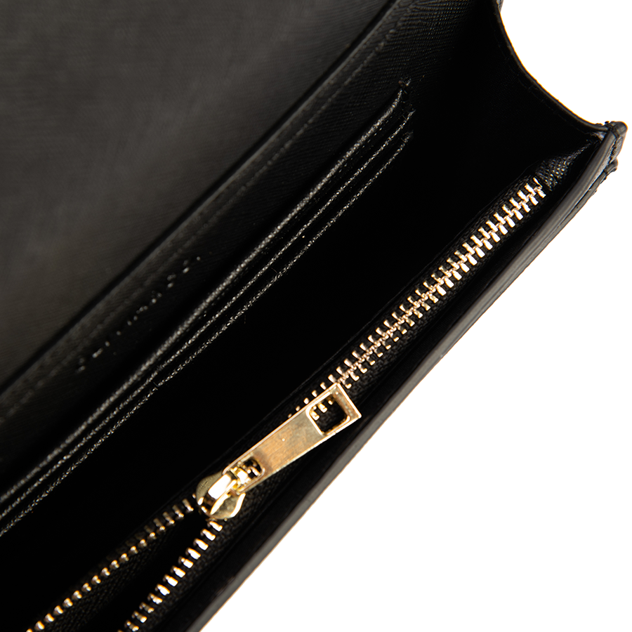 Bright-Out-To-Night-Out Bag in Black Saffiano Leather