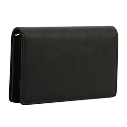 Rectangle Bag in Black Saffiano Leather