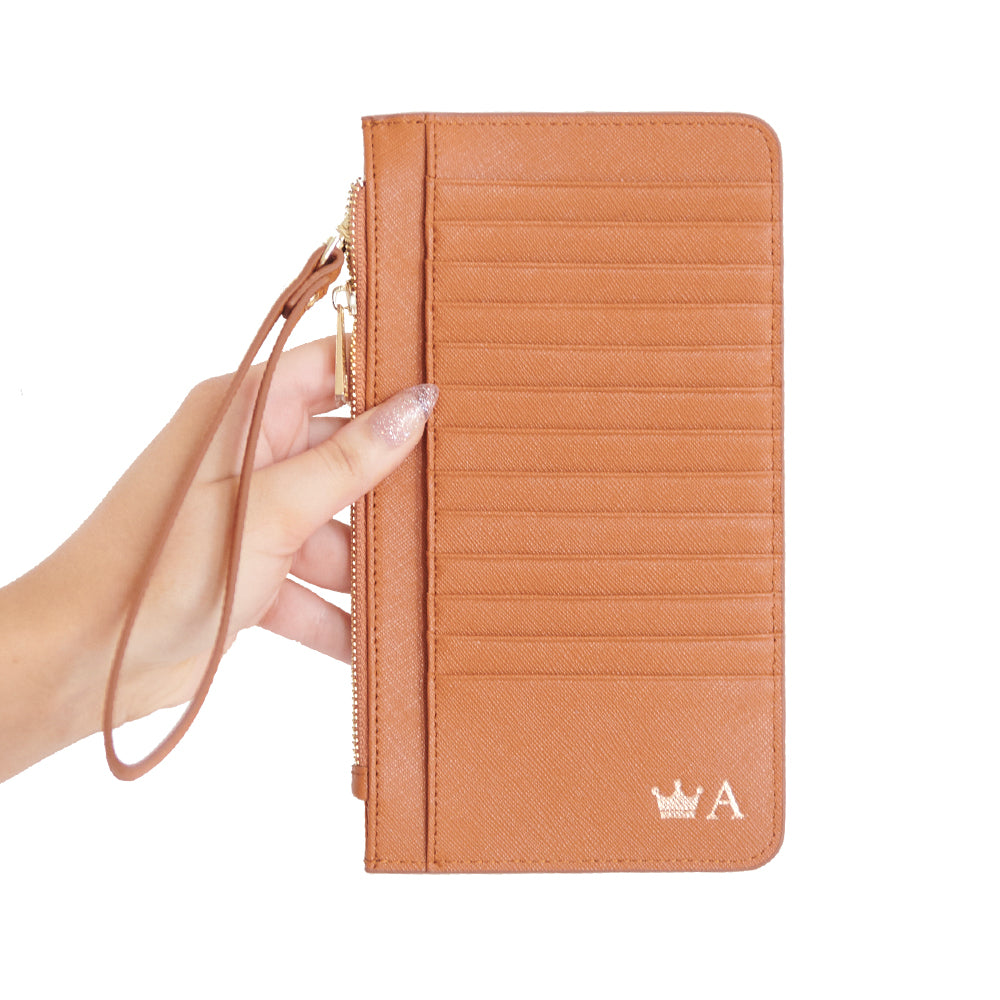 Phone Wallet in Tan