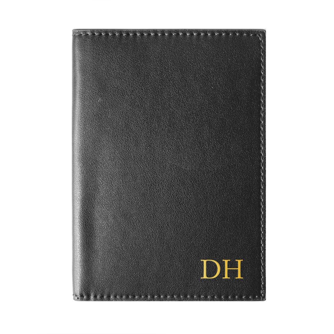 Mon Purse Smooth Passport Holder in Black
