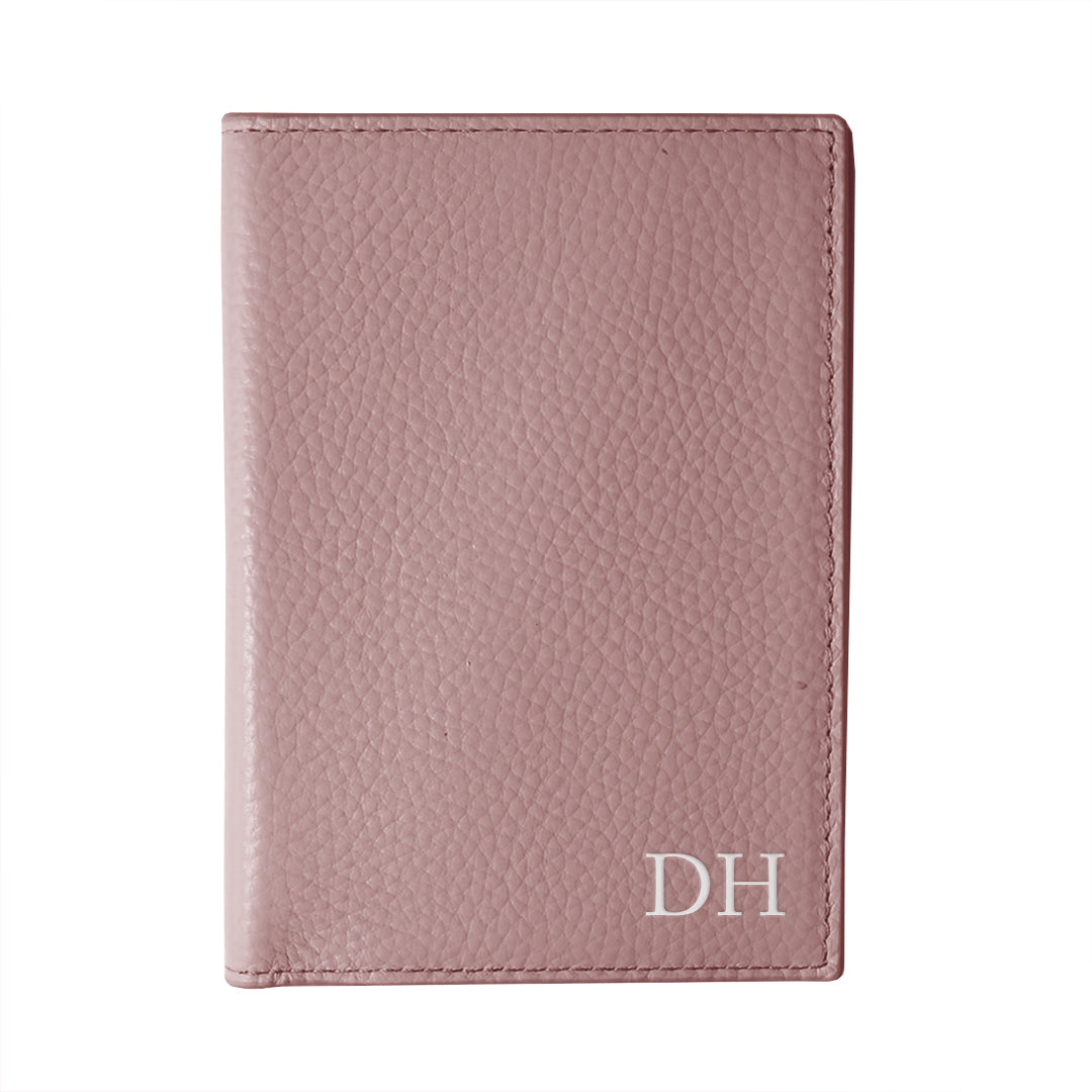 Mon Purse Pebbled Passport Holder in Mauve