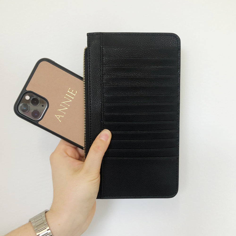 Phone Wallet in Black