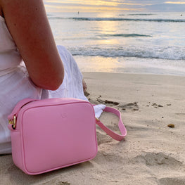 Pink Pebbled Rectangle Bag