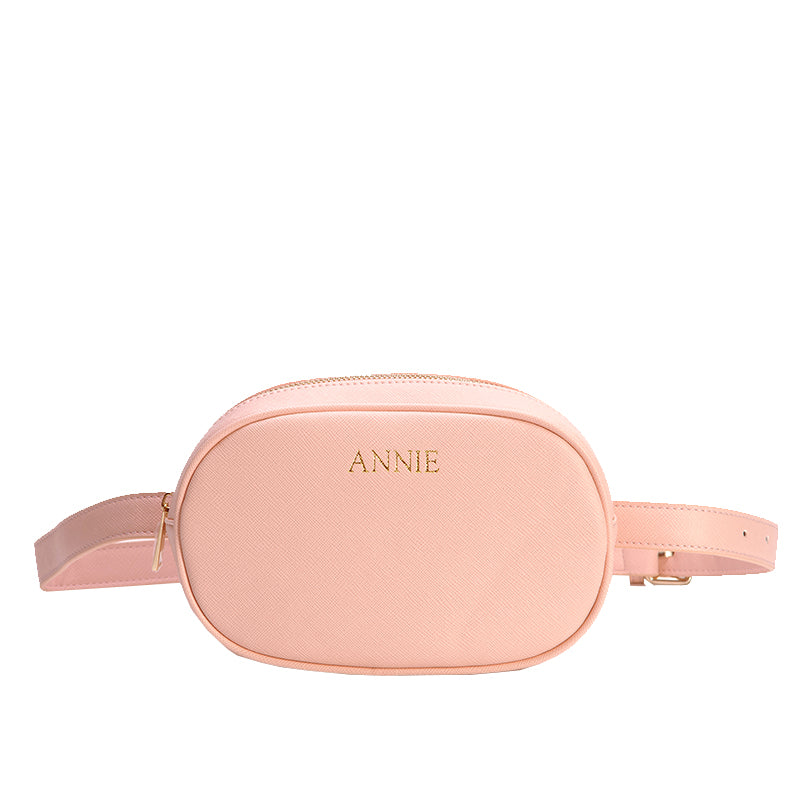 Waist Bag in Pink Vegan Leather