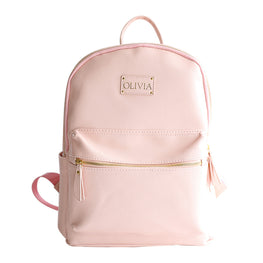 Baby Pink Vegan Leather Baby Backpack Bag