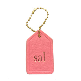 Mini Bag Tag in Pink
