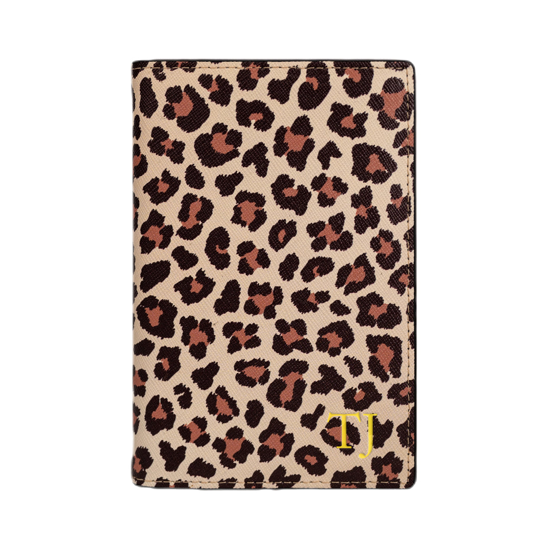 Outta Here Passport Holder in Leopard Print