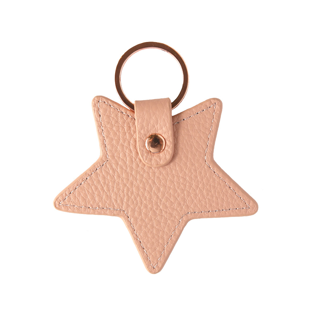Pebbled Lowkey Star Keyring in Blush (Rose Gold)