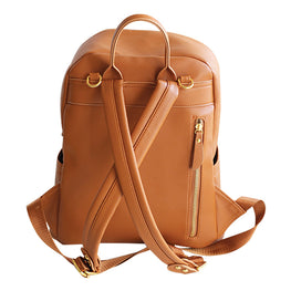 Tan Baby Backpack Bag in Vegan Leather
