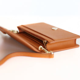 Rectangle Bag in Tan/Brown Saffiano Leather