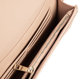 Rectangle Bag in Taupe Saffiano Leather