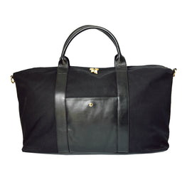 Let's Take a Break Weekender Bag in Black