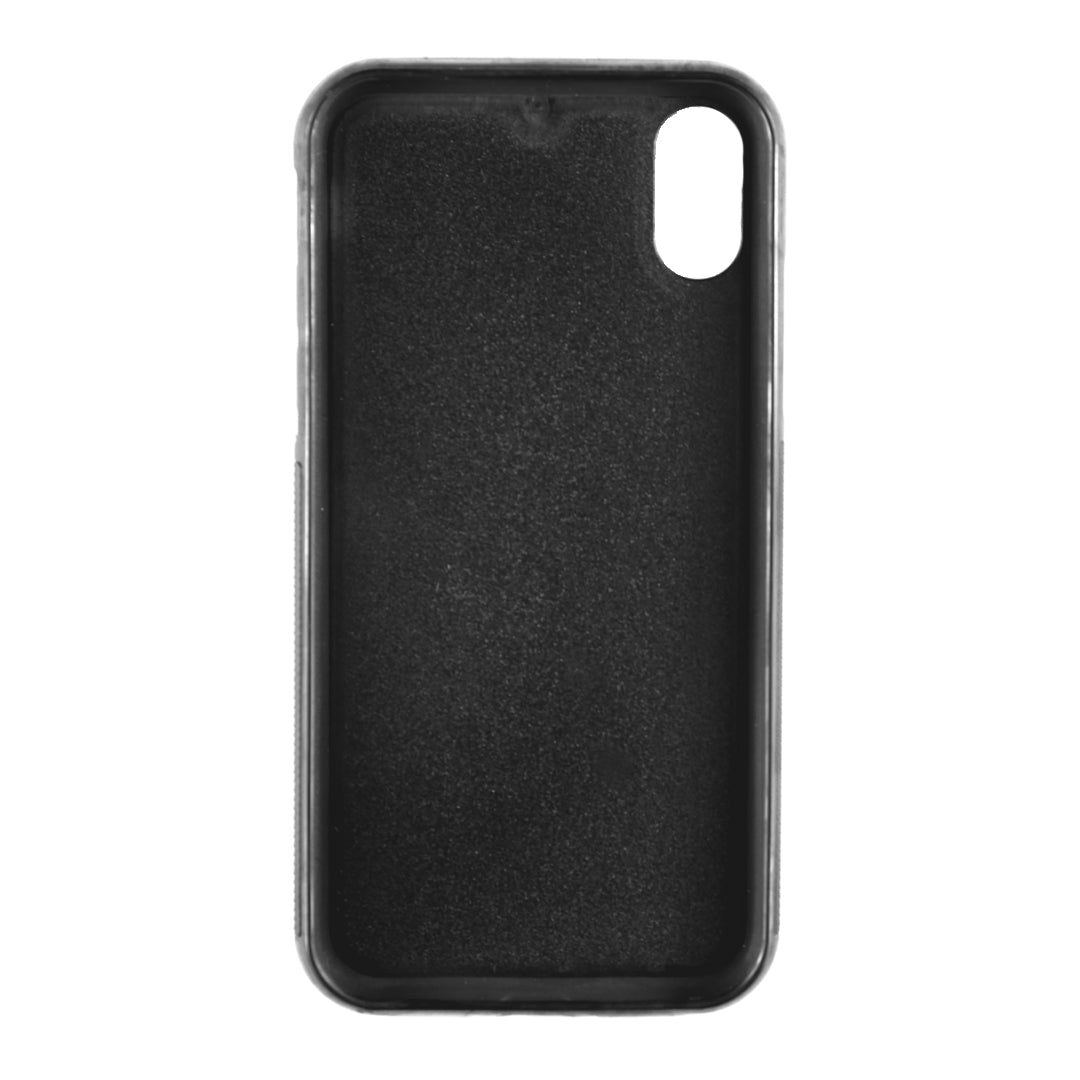 iPhone XS Max case in Black Smooth Leather