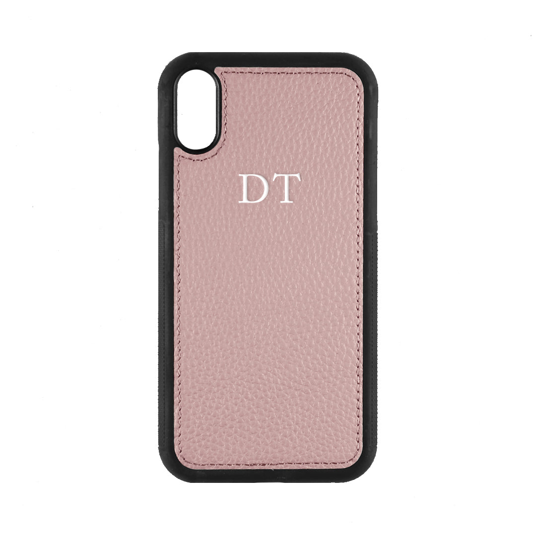 iPhone XR Phone Case in Mauve Pebbled Leather