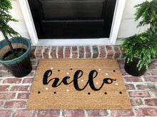 New Natural Coir Non Slip Hello Floor Entrance Door Mat+ FREE Rubber Mat ($20 Value)