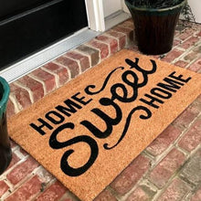 New Natural Coir Non Slip Home Sweet Home Floor Entrance Door Mat Indoor  Outdoor + FREE