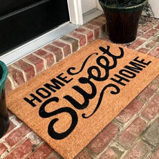 New Natural Coir Non Slip Home Sweet Home Floor Entrance Door Mat Indoor Outdoor + FREE Rubber Mat ($20 Value)