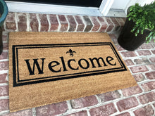 New Natural Coir Non Slip Welcome Floor Entrance Door Mat+ FREE Rubber Mat ($20 Value)