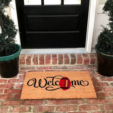 New Natural Coir Non Slip for Football lovers Entrance Door Mat Indoor / Outdoor