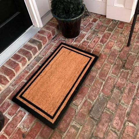 New Natural Coir Non Elegant Floor Entrance Door Mat Indoor / Outdoor + FREE Rubber Mat ($20 Value)