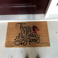 New Natural Coir Non Slip No Place Like Home Floor Entrance Door Mat Indoor / Outdoor