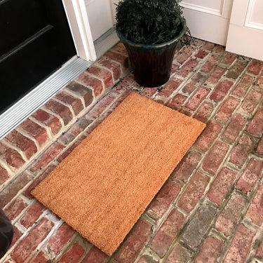 NEW 18 x 30 in Plain Door Mat Natural Coir Recycled Rubber Doormat