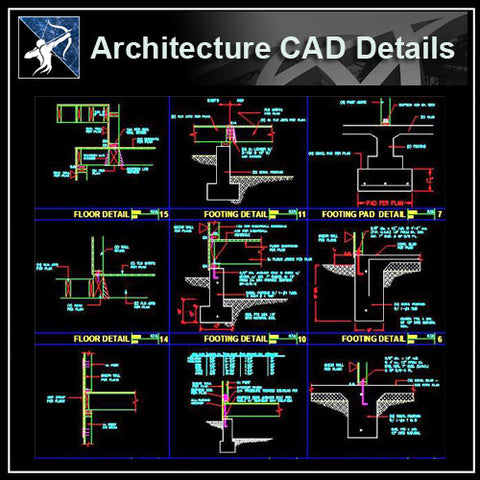 Architecture Cad Drawings】 Cad Blocks Details 3d Models