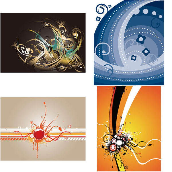 ★Free Abstract Elements V.2-Free Download Illustration AI Vector