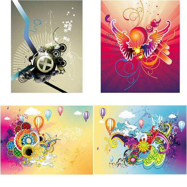 ★Free Abstract Elements V.28-Free Download Illustration AI Vector