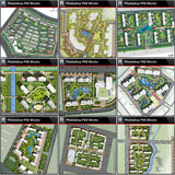 ★Best 10 Types of Residential Landscape PSD color plans Bundle (Total 1.24GB PSD Files -Best Recommanded!!💎💎) - Architecture Autocad Blocks,CAD Details,CAD Drawings,3D Models,PSD,Vector,Sketchup Download