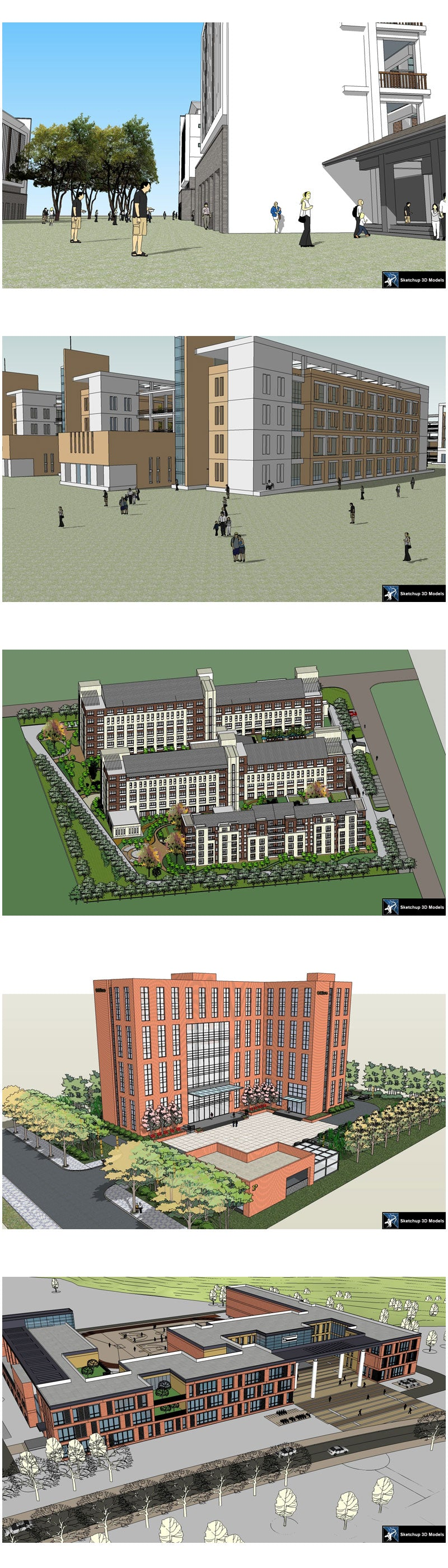 ★Best 20 Types of School Sketchup 3D Models Collection V 7
