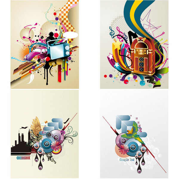 ★Free Abstract Elements V.15-Free Download Illustration AI Vector