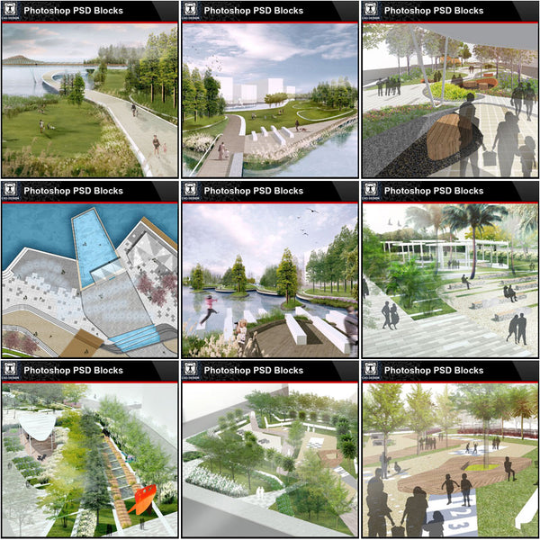 ★Best 14 Types of Landscape PSD color renderings Bundle (Total 0.94GB PSD Files -Best Recommanded!!💎💎) - Architecture Autocad Blocks,CAD Details,CAD Drawings,3D Models,PSD,Vector,Sketchup Download