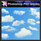 【Photoshop PSD Blocks】Landscape Sky PSD Blocks 1 - Architecture Autocad Blocks,CAD Details,CAD Drawings,3D Models,PSD,Vector,Sketchup Download