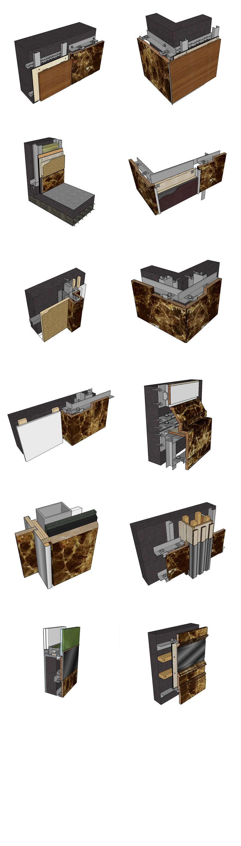 【Best 26 Types of Wall Details Sketchup 3D Detail Models】 (★Recommanded★)
