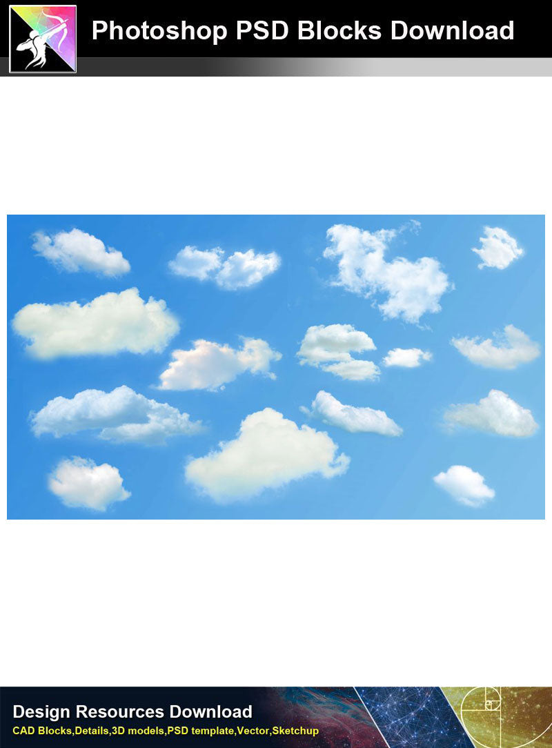 【Photoshop PSD Blocks】Landscape Sky PSD Blocks