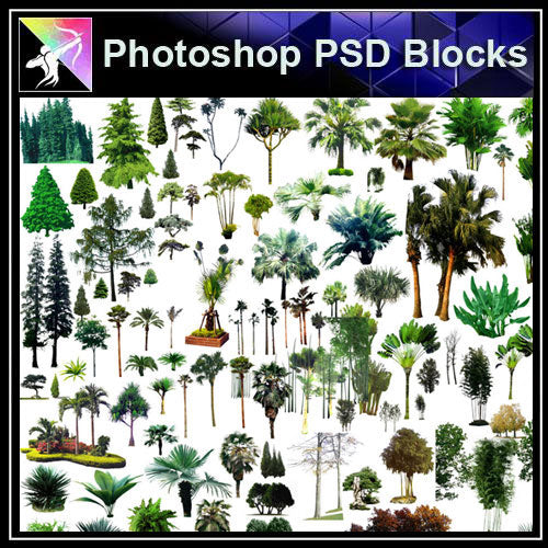 【Photoshop PSD Blocks】Landscape Tree PSD Blocks 3
