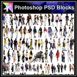 【Photoshop PSD Blocks】People PSD Blocks 2 - Architecture Autocad Blocks,CAD Details,CAD Drawings,3D Models,PSD,Vector,Sketchup Download