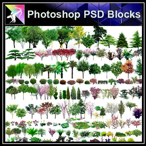 【Photoshop PSD Blocks】Landscape Tree PSD Blocks 9