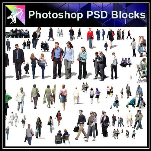 【Photoshop PSD Blocks】People PSD Blocks 3 - Architecture Autocad Blocks,CAD Details,CAD Drawings,3D Models,PSD,Vector,Sketchup Download