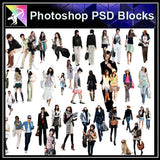 【Photoshop PSD Blocks】People PSD Blocks 4 - Architecture Autocad Blocks,CAD Details,CAD Drawings,3D Models,PSD,Vector,Sketchup Download