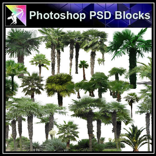 【Photoshop PSD Blocks】Landscape Tree PSD Blocks 6