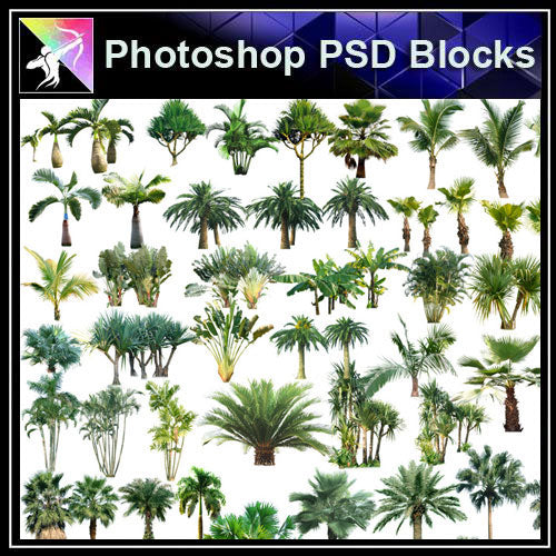 【Photoshop PSD Blocks】Landscape Tree PSD Blocks 7