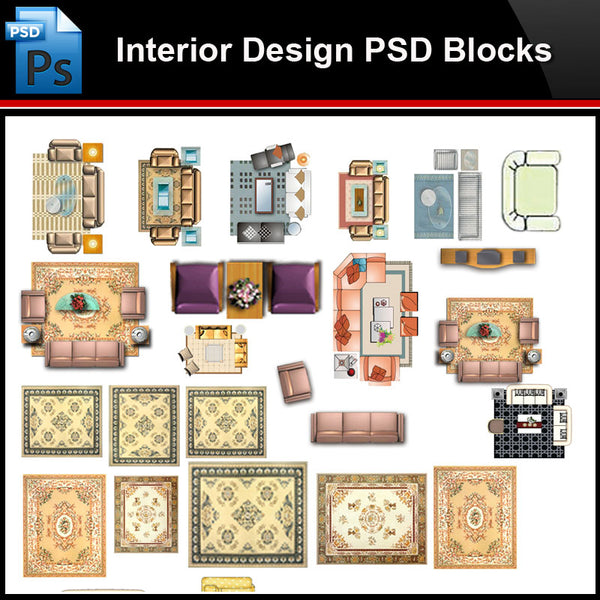 ★Photoshop PSD Blocks-Interior Design PSD Blocks-Sofa PSD Blocks V1 - Architecture Autocad Blocks,CAD Details,CAD Drawings,3D Models,PSD,Vector,Sketchup Download